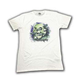 IN-GRAVITY Camiseta SkateSkull Chico Blanca