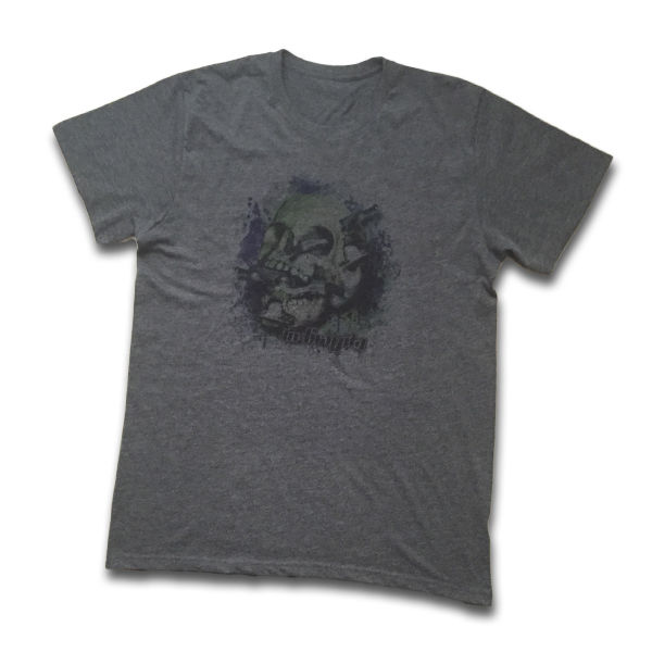 IN-GRAVITY Camiseta SkateSkull Chico Gris