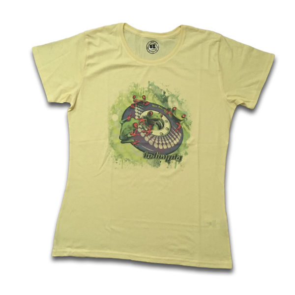 IN-GRAVITY Camiseta RollerFrog Chica Amarillo