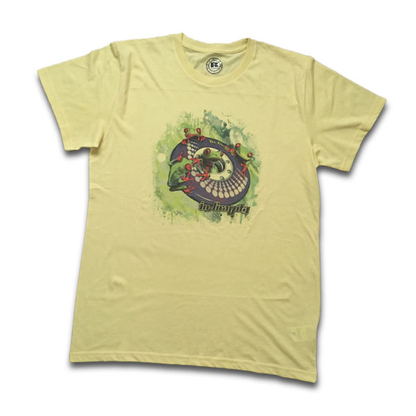 IN-GRAVITY Camiseta RollerFrog Chico Amarillo