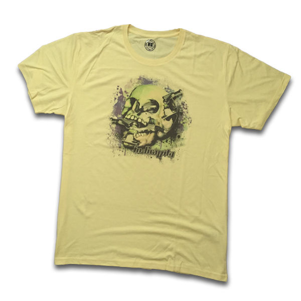 IN-GRAVITY Camiseta SkateSkull Chico Amarillo
