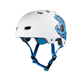 BULLET Casco Santa Cruz Screaming Hand Blanco