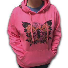 IN-GRAVITY Sudadera Butterfly Rosa Fluor