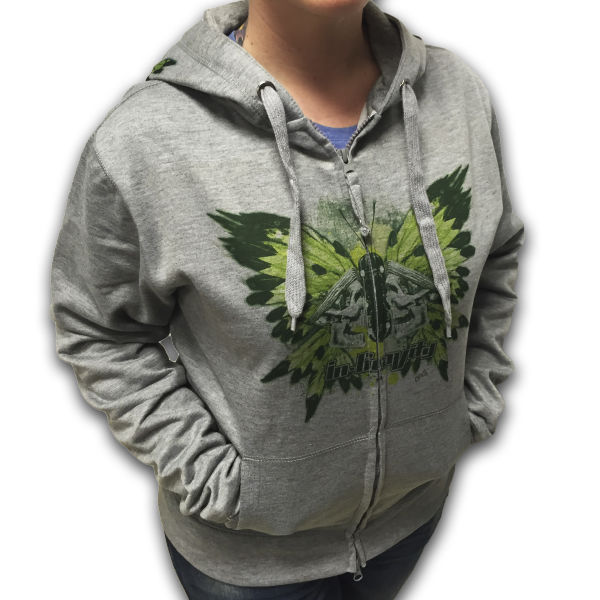 IN-GRAVITY Sudadera Cremallera Butterfly Gris