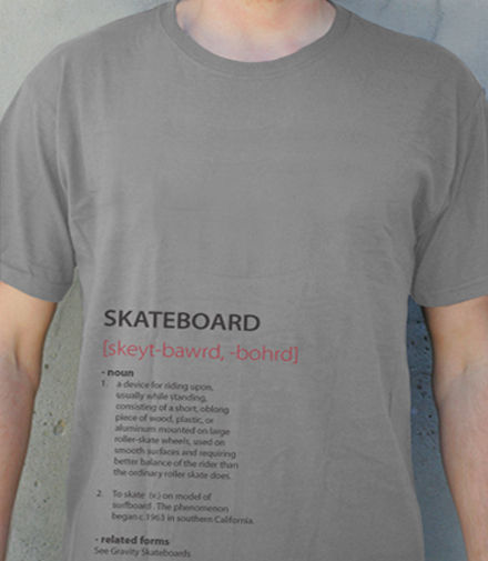Gravity camiseta Definition