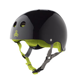 TRIPLE8 Casco Black Gloss Green