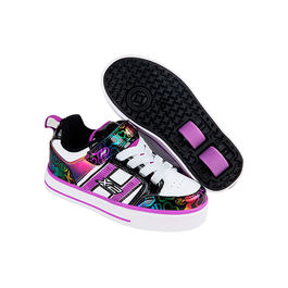 HEELYS X2 Bolt Plus Blanco / Negro / Rainbow Hearts