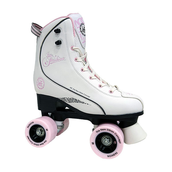 KRF Patin Retro Fashion Blanco / Rosa