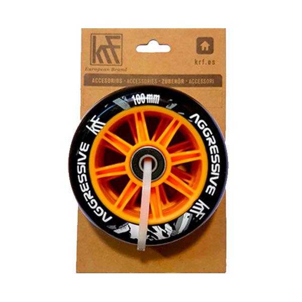 KRF Pack Ruedas Scooter Agresivo 100mm 88A Negro / Naranja