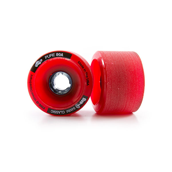 BUSTIN Five-O Wheels Red 64mm 80a