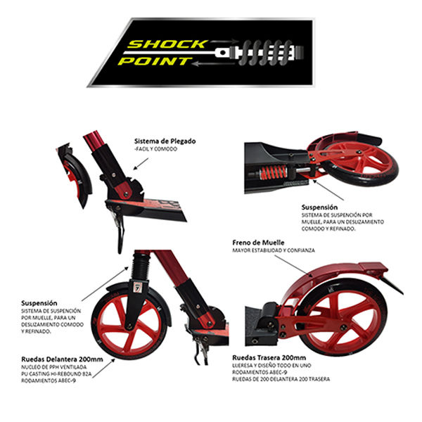 KRF Scooter Premier City 200 Doble Suspensión Rojo