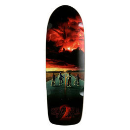 MADRID SKATEBOARDS X Road Poster Stranger Things Black