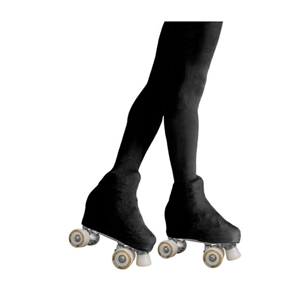 KRF Figure Skating Boot Cover Tights Black