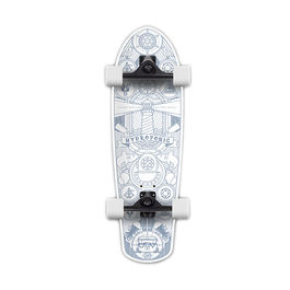 HYDROPONIC SurfSkate Marine White Mate 31""
