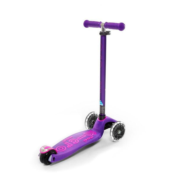 MICRO Scooter Maxi Deluxe Led Purple