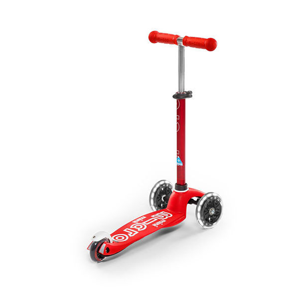 MICRO Patinete Scooter Mini Deluxe Led Rojo