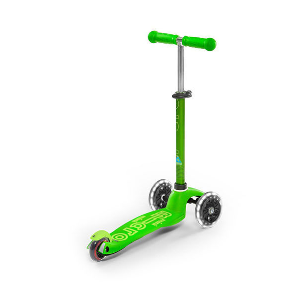MICRO Patinete Scooter Mini Deluxe Led Verde