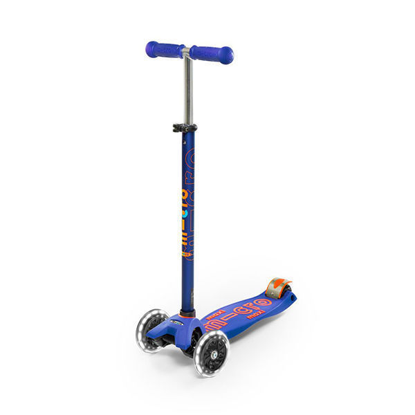 MICRO Patinete Scooter Maxi Deluxe Led Azul