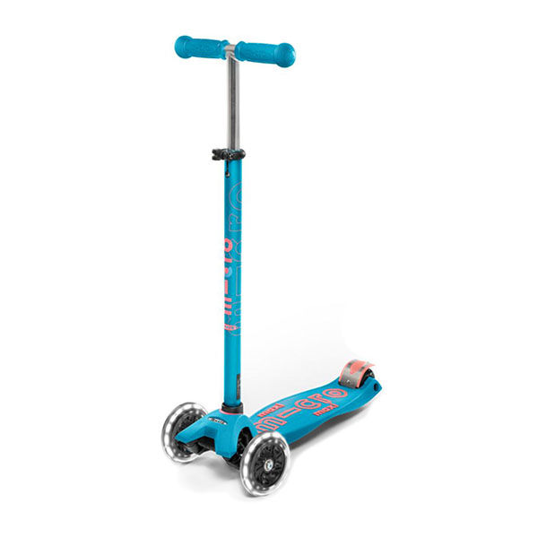 MICRO Patinete Scooter Maxi Deluxe Led Aqua