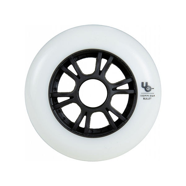 UNDERCOVER Team Wheel 100mm 86A White (bullet radius)