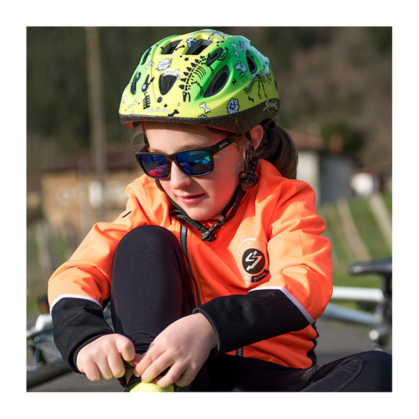 SPIUK Kids Helmet Green / Yellow Skeleton