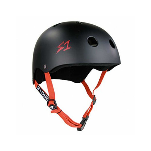 S ONE Casco Lifer Black Matte / Red