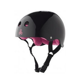 TRIPLE8 Casco Negro brillo
